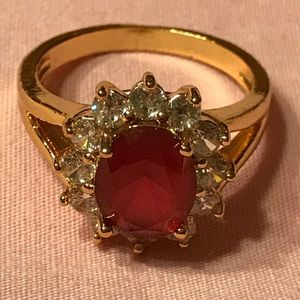 Jewelry - Lab Created Ruby Ring Size 8 1/2